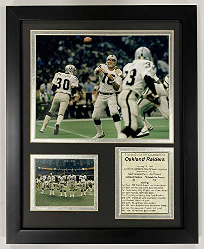 "Legends Never Die Oakland Raiders - 1980 Superbowl XV Champions - Framed 12""x15"" Double Matted Photos"