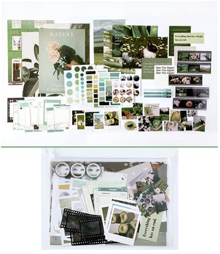 Juego de 64 pegatinas de papel Washi para scrapbooking, pegatinas de película para el mar y la montaña, diario, álbum de recortes para álbum de fotos para tarjetas de felicitación hechas a mano