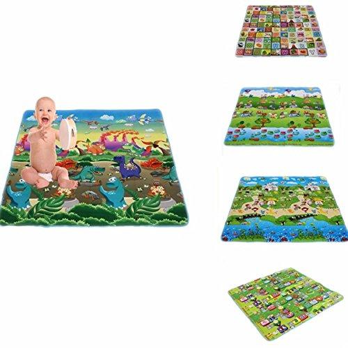 LQZ(TM) Bébé enfant tapis de jeu tapis éveil jouet dessin animaux extérieur couverture pique-nique (180*180*0.3CM, # 4)