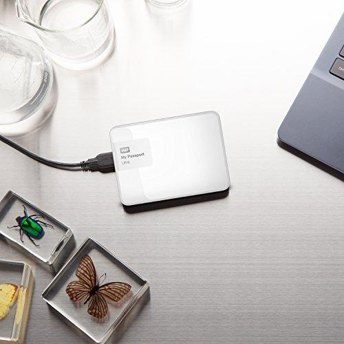 『WD HDD ポータブルハードディスク 2TB My Passport Ultra WDBBKD0020BWT-PESN USB3.0/ホワイト/暗号化パスワード保護/3年保証』の4枚目の画像