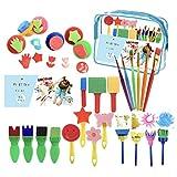 27 unids/set pintura dibujo herramientas divertido grafiti esponja sello kit arte suministros creativo niños juguete