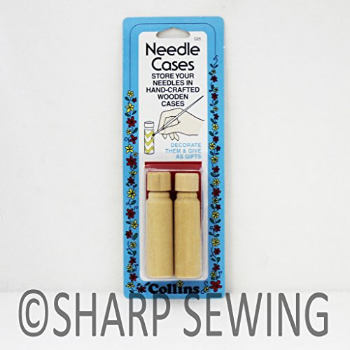 Collins Wooden Needle Case - 2/Pkg