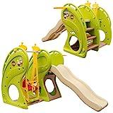 Little Tom Kinder Spielplatz ab 1 Jahr - 180x110 Baby Spielturm - Rutsche mit Schaukel
