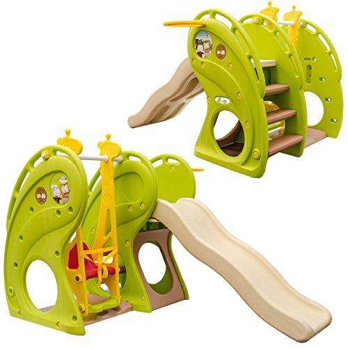 Little Tom Indoor Spielplatz ab 1 Jahr - 180x110 Baby Spielturm - Rutsche mit Schaukel