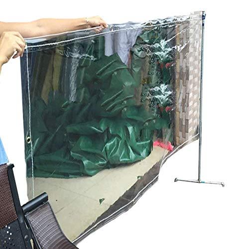Buitenshuis waterdichte doek transparante sterke pvc-afdekking regen zonwering plastic folie balkon windscherm doek regen canvas (grootte: 11 × 16 m) 2m×2m