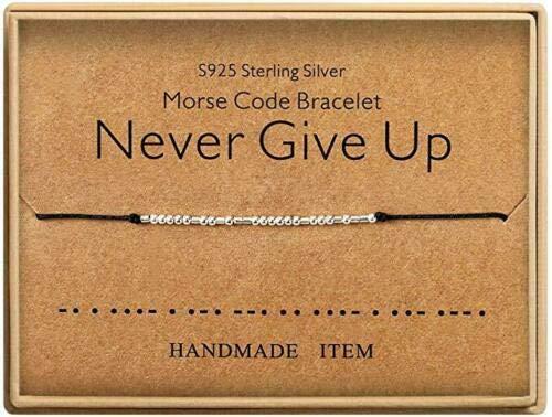 Kaiross Morse Code Armbanden Lucky Sieraden Zilveren Armbanden Kralen Op Zijden Koord Armband Gift Verstelbare String Armband Armbanden Gift
