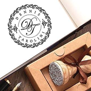 Timbro Personalizzato Nome Iniziale Kraft Carta Scatole Regalo Marrone