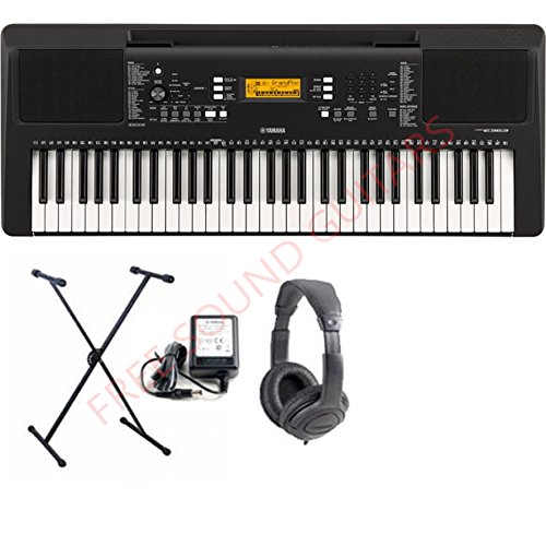 Yamaha Psr E373 Tastiera con supporto tastiera + cuffie e alimentatore