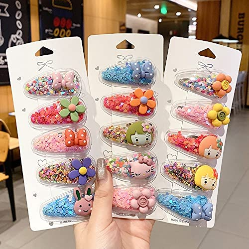 DUOYINGMY Online limited product Hairpin 10 15 20 Pcs Cartoon Set New Ultra-Cheap Deals Fruit 2021 Floral