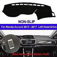 OZLXKNC Car Dashboard Cover Silicone Non-Slip Dash Mat ANti-UV Carpet Sun Shade,For Honda Accord 2013 2014 2015 2016 2017
