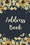 Address Book: Sunflower Cover | Keep Your Contacts Addresses, Email, Mobile, Work, Fax Home Phone Numbers, Social Media and Birthday