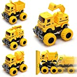 3 otters Engineering Vehicle Car Toys, 4PCS Truck...