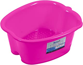 DRESHah Large Pink Foot Bath Tub - Thick Sturdy Plastic Pedicure Spa and Massage for Soaking Feet, Toenails, and Ankles with Epsom Salts or Essential Oils. Helps with Callus, Fungus and Dead Skin