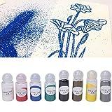 【𝐎𝐟𝐞𝐫𝐭𝐚𝐬 𝐝𝐞 𝐁𝐥𝐚𝐜𝐤 𝐅𝐫𝐢𝐝𝐚𝒚】Polvo para estampar, Polvo para grabar en relieve de 8 colores, Bricolaje para pintar Scrapbooking