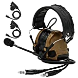 TAC-SKY COMTAC III Casque tactique Dual Comm, protection auditive, amplification du...