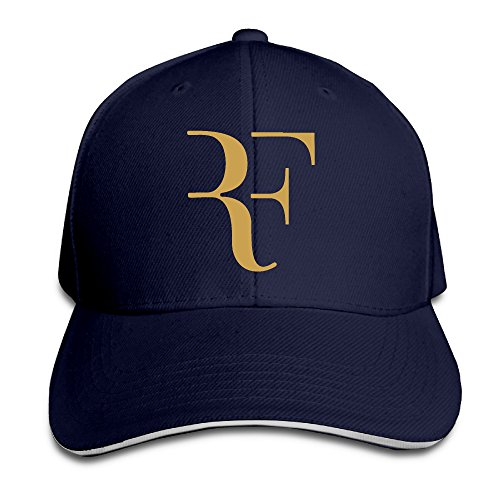 Hioyio Roger Federer Logo Sandwich Peaked Hat & Cap