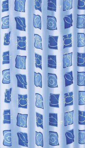 Kleine Wolke 4990700305 Duschvorhang Sealife, 180 x 200 cm, blau