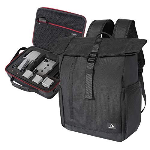 Smatree Hard Carrying Case Koffer Kompatibel mit DJI Mavic Air 2 / DJI Air 2S Drohnen Tasche + Laptop Rucksack mit USB Ladeanschluss für 16,1 Zoll Laptop, Zwei Taschen in Einer (2 in 1)