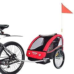 VEELAR Sport Kids Trailer Fietstrailer Hanger Fietstrailer BT502 T – D01 Red*