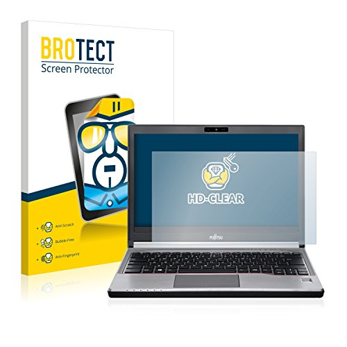 BROTECT Schutzfolie kompatibel mit Fujitsu Lifebook E734 klare Bildschirmschutz-Folie
