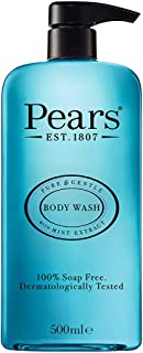 Pears Pure & Gentle Body Wash with Mint Extract, 500 ml