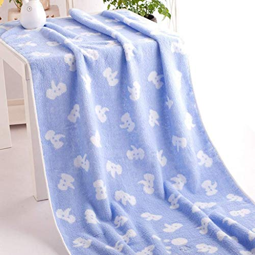 AOIWE NDMWKSA 70 * 140cm para el Elefante algodón Niño Blaza de baño Venta al por Mayor Limpieza de la casa Cara para bebé para niños Toalla de baño (Color : Blue)