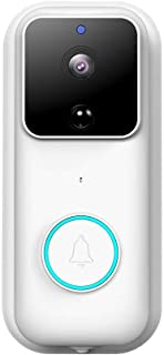 Goglor Wireless Video Doorbell, 1080P HD Smart WiFi Doorbell Camera Home Security System with PIR Motion Detection, Night ...