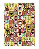 U Studio Collection - Papel de Regalo, diseño de héroes y Villanos