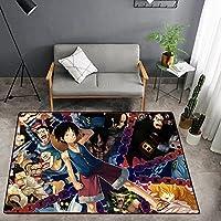 ONE PIECE ラグ・カーペット漫画のダイニングルーム用の3Dカーペット、子供部屋のリビングルーム用の漫画のプリントカーペット、寝室のカーペット、ゲームフロアマット