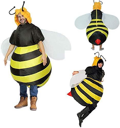 N\A ZT Disfraz de Fiesta Disfraz Inflable de Halloween Bee Ropa Inflable, Ropa de Fiesta de Navidad Partido Actividad Animal Ropa Ropa Divertida Ropa Inflable S 150cm-190cm