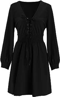 Best high waist v neck dress Reviews