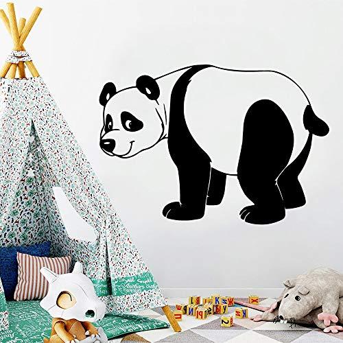 Divertente Panda Applique Rimovibile Vinile murale Poster Soggiorno Camera dei Bambini Adesivo Decorazione della casa Decorazione della Parete Soggiorno 54x81 cm