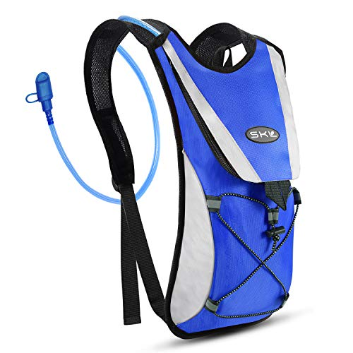 S.K.L Hydration Pack - Hydration Backpack with 2 Liter Water Bladder - Lightweight Water Backpack for Running Hiking Cycling Biking Climbing Camping