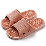 Acupressure Massage Slippers for Plantar Fasciitis for Women Acupuncture Slippers Arthritis Neuropathy Pain Relief Non-Slip Massage Sandals Women Stress Relief Gifts for Bath (Pink, Us Women 7.5-8)