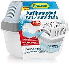 Humydry Antihumedad Premium Plus Deshumidificador con Tableta de 500 gr, Plástico