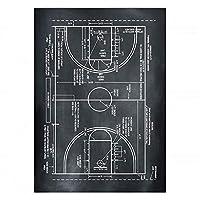 大人のための木製パズル300ピースバスケットボールコートデザイン描画海アートレジャーゲームおもちゃ家の装飾38X52cm