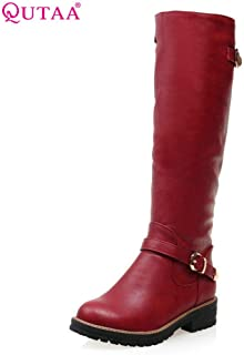 Zore Gy Umbrellas Fashion Women Boot Med Calf Round Toe Woman Winter Shoes Size 34 HYBKY