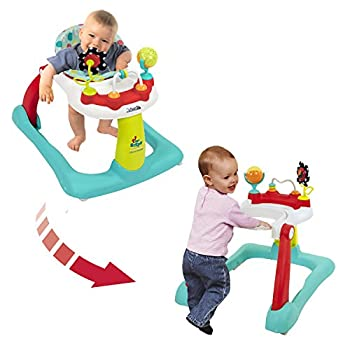 Kolcraft Tiny Steps 2-in-1 Infant & Baby Activity Walker - Seated or Walk-Behind Jubliee