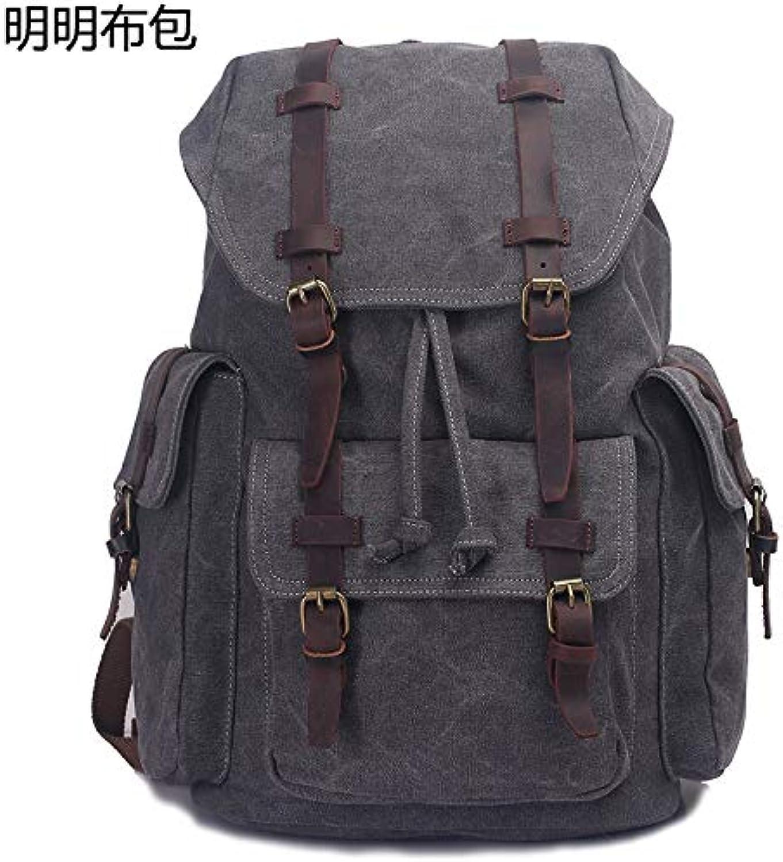 QingToo Student Tasche Stoff Stoff Stoff Tasche lässig Leinwand Rucksack Reisen im Freien Student, Khaki B07G5D8XZR | Ausgezeichnete Leistung  374570
