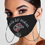 757 Glänzend Strass Mundschutz mit Neujahr 2021 Maske Waschbar Wiederverwendbar Mund-Nasen Bedeckung Atmungsaktiv Halstuch Schals für Damen Glitzer Mundschutz Halstuch Schals