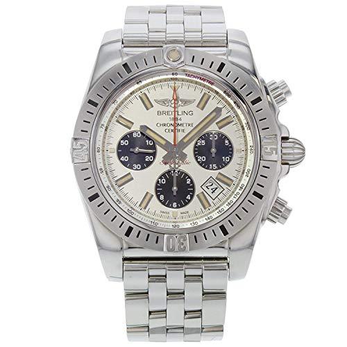 Breitling Chronomat Airborne 44 acciaio quadrante argento orologio da uomo AB01154G/G786-375A