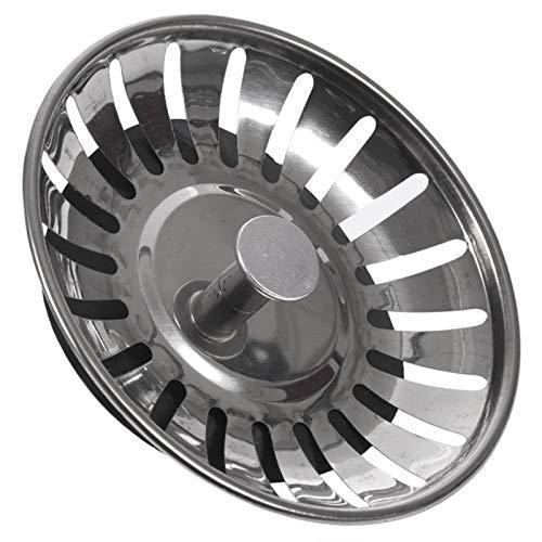 XIN NA RUI Filtro De Fregadero, 2PC del Fregadero De Cocina Filtro De Desagüe De Residuos Plug (Color : Dark Grey)