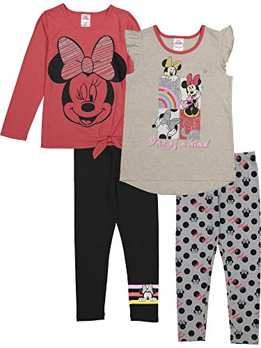 Disney Minnie Mouse Little Girls Fashion 4 Piece Legging Set Red White