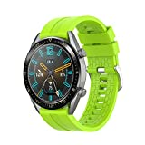 Correa Compatible con Huawei Watch GT/GT2 46mm/GT 2e/Honor Magic Watch 2 46mm Correas de Silicona, 22mm Impermeable Banda...