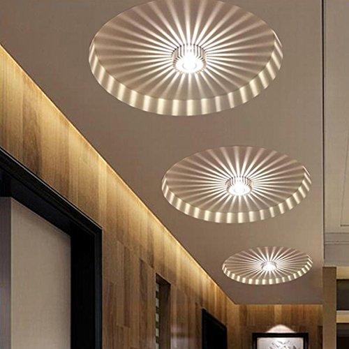 Moderne Korridor Veranda Licht, kreative Deckenleuchten, bündig montiert Sonnenblume Wandleuchten, Asile Lichter-3W-Warmes Weiß [Energieklasse A +++] (3w warmweiß)