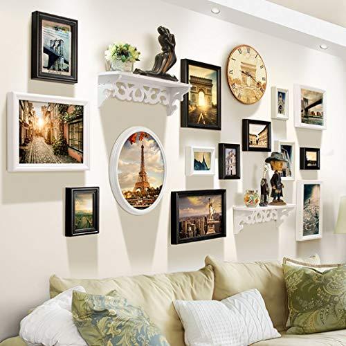 Decoratieve lijst fotolijst wandsets 14 sets woonkamer combinatie slaapkamer fotolijst creatielijst wand combinatie ophangsysteem kinderfotowand decoratieve foto's set (kleur: B) A