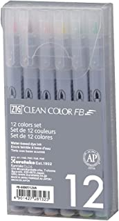 Kuretake ZIG FB-6000T/12VA Clean FB, Soft 12 Colors