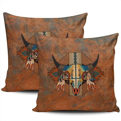 KELEMO Decorative Throw Pillow Case Cushion Cover Sofa Bedroom Buffalo New Mexico Style Southwestern product image
