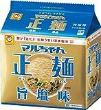 東洋水産 マルちゃん正麺 旨塩味 (112g×5食)×6個入