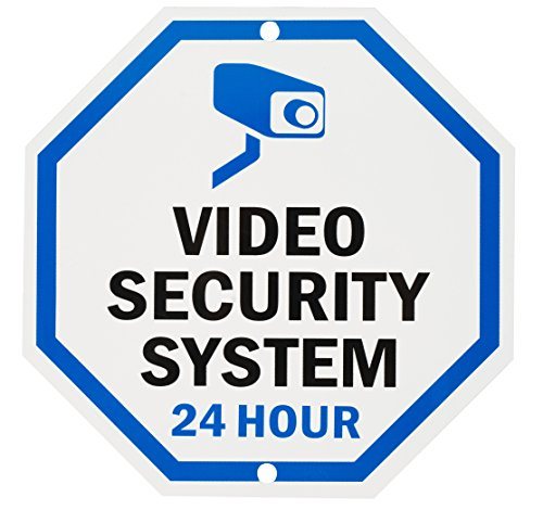 """Price comparison product image Aluminum Sign for Home Business Security,  Legend Video Security System 24 Hour, 10"""" Tall Octagon,  UV Protected and Waterproof (Sign-A-2)"""